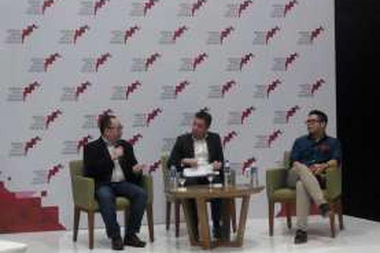 Diskusi survei Fintech Indonesia oleh Deloitte di ICE BSD, Senin (28/9/2016)