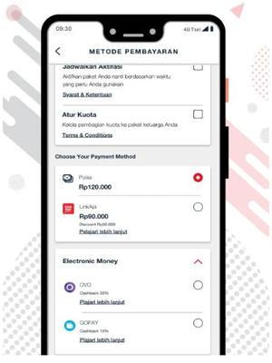 Ilustrasi metode pembayaran terbaru di aplikasi MyTelkomsel.