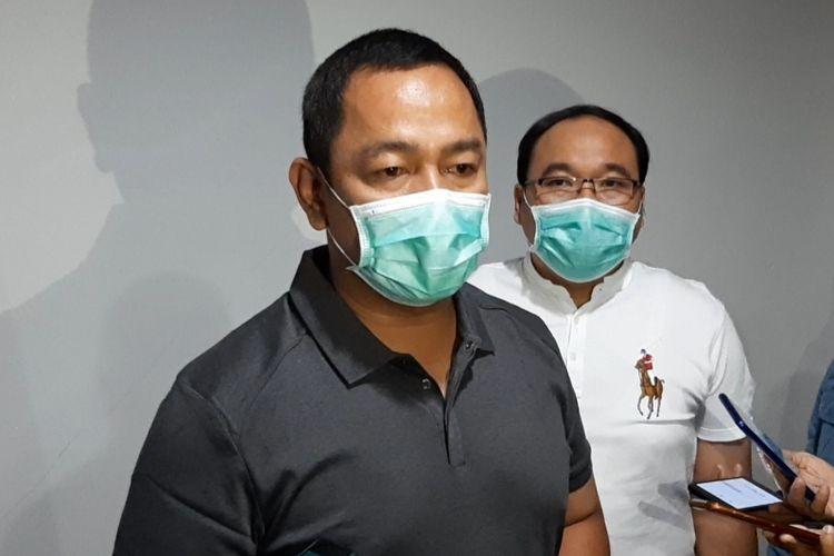 Wali Kota Semarang Hendrar Prihadi saat konferensi pers di Kantor Dinas Kesehatan Kota Semarang, Minggu (5/7/2020).