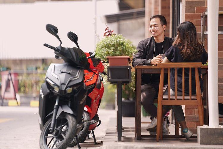 WIMA buka flagship store Gesits di Cawang, Jakarta Timur.