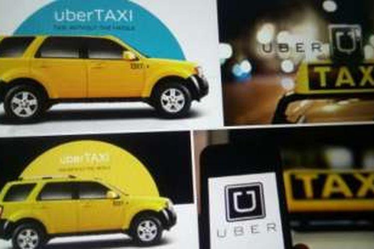 Foto ilustrasi mobil Uber Taxi
