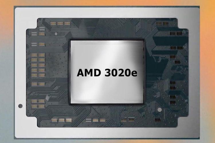 Ilustrasi prosesor AMD 3020e.