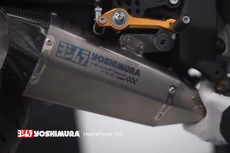 Knalpot racing Yoshimura tipe Hepta Force TSS untuk Kawasaki Ninja ZX-25R