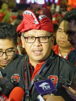 Sekjen PDI-P Hasto Kristiyanto saat ditemui di Hotel Grand Inna Bali Beach, Rabu (7/8/2019).