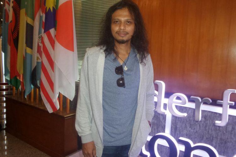 Gugun Gugun Blues Shelter diabadikan usai Konferensi pers Bali Blues Festival 2017 di Kementerian Pariwisata, Jakarta Pusat, Rabu (17/5/2017).