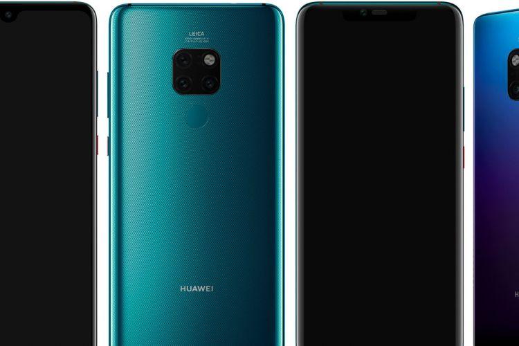 Huawei Mate 20 (kiri) dan Mate 20 Pro (kanan)