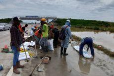 Antisipasi Banjir Susulan di Tol Caruban-Solo, PT JNK Pasang Tanggul Sementara