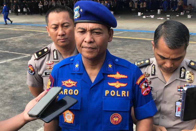 Kepala Biro Penerangan Masyarakat (Karopenmas) Divisi Humas Polri Brigjen Argo Yuwono di Mako Polisi Udara, Pondok Cabe, Tangerang Selatan, Rabu (4/12/2019).
