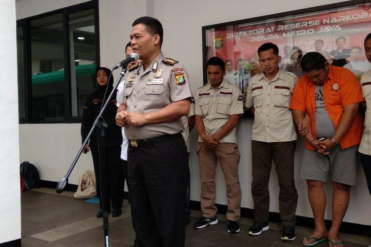 Penyuplai sabu Jennifer Dunn ditangkap Ditresnarkoba Polda Metro Jaya, Sabtu (27/1/2018)