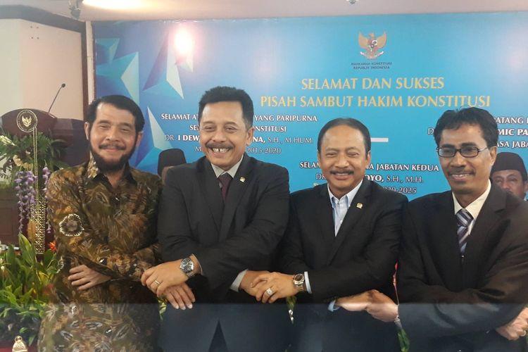 Pisah sambut hakim konstitusi I Dewa Gede Palguna di Gedung MK, Jakarta Pusat, Selasa (7/1/2020).