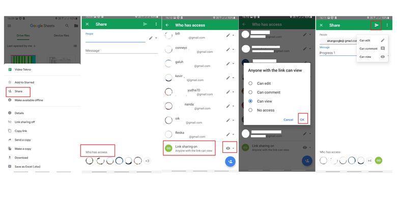Cara membuat Google Drive yang bisa diakses banyak orang lewat ponsel.