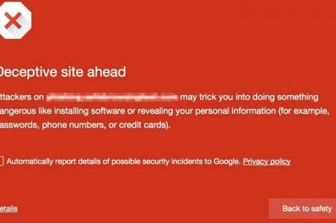 Google Chrome Hindarkan Tipuan Berkedok Tombol