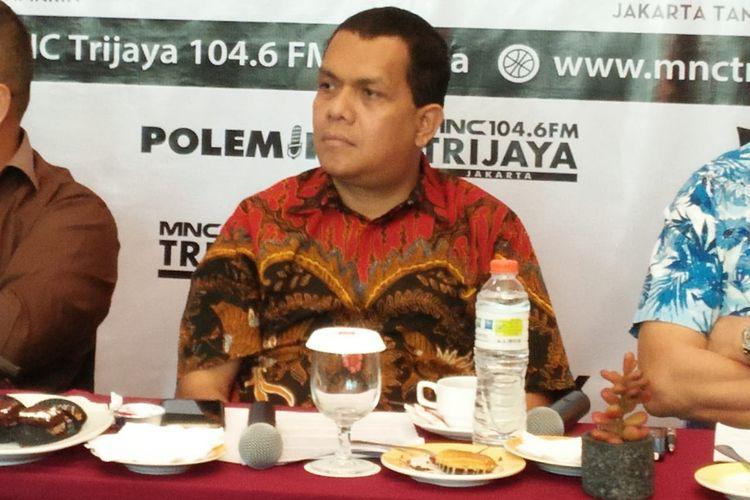 Wakil Ketua Komisi IX DPR Melki Laka Lena dalam sebuah diskusi bertajuk 'Omnibus Law dan Kita' di Hotel Ibis Jalan KH Wahid Hasyim, Jakarta Pusat, Sabtu (1/2/2020).