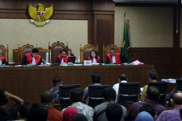 Suasana sidang kasus e-KTP di Pengadilan Tipikor Jakarta, Kamis (16/3/2017).