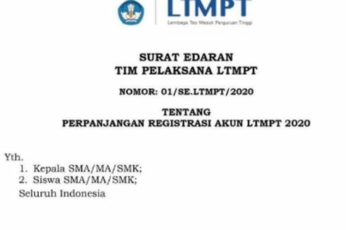 Pendaftaran Diperpanjang, LTMPT Minta Sekolah dan Siswa Lakukan Finalisasi