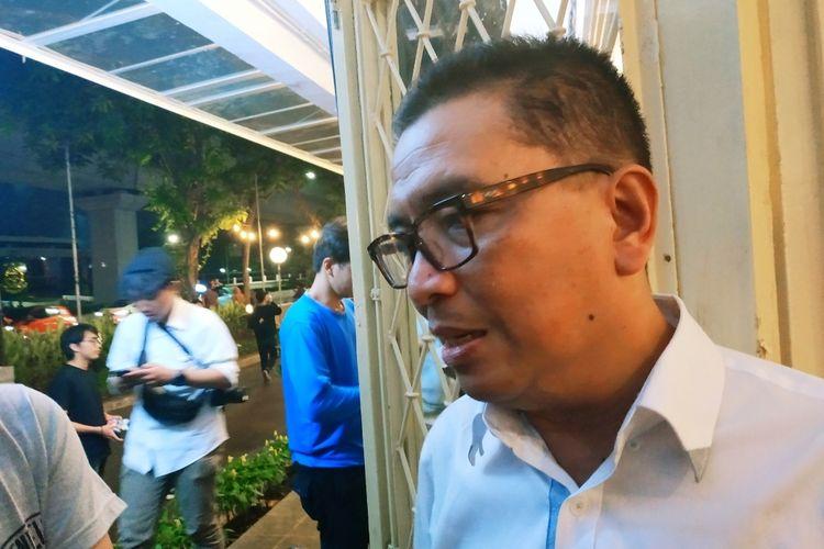 Eks Dirut TVRI Helmy Yahya di Kebayoran Baru, Jakarta Selatan, Rabu (12/2/2020).