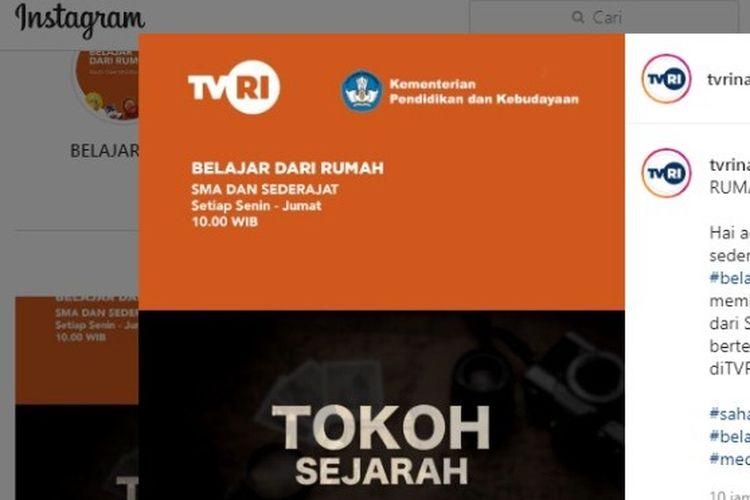 Tangkapan layar Instagram TVRI Nasional, Srikandi Indonesia.