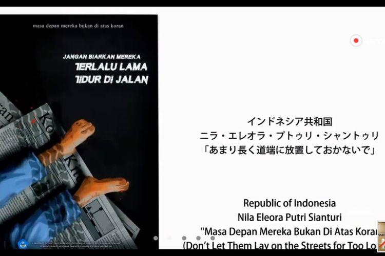 Dalam ajang 21st International High Schools Arts Festival (IHSAF), 5-16 Agustus 2020 di Tokyo, Jepang, Nila Eleora Putri Sianturi, siswi SMAN 68 Jakarta meraih medali emas untuk kategori poster terbaik puteri.