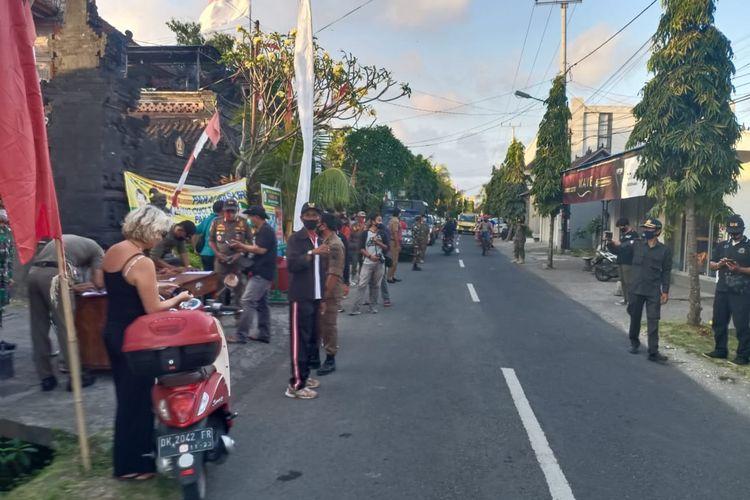 Operasi atau razia penegakan protokol kesehatan di Badung, Bali.