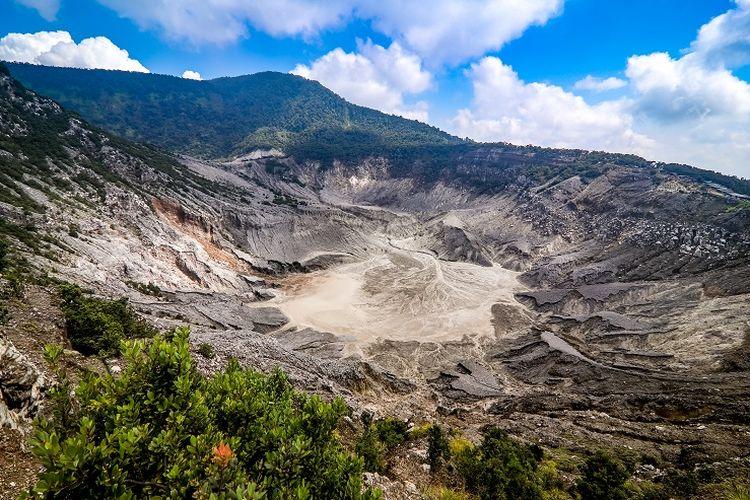 Ilustrasi Jawa Barat - Tempat wisata Tangkuban Parahu.