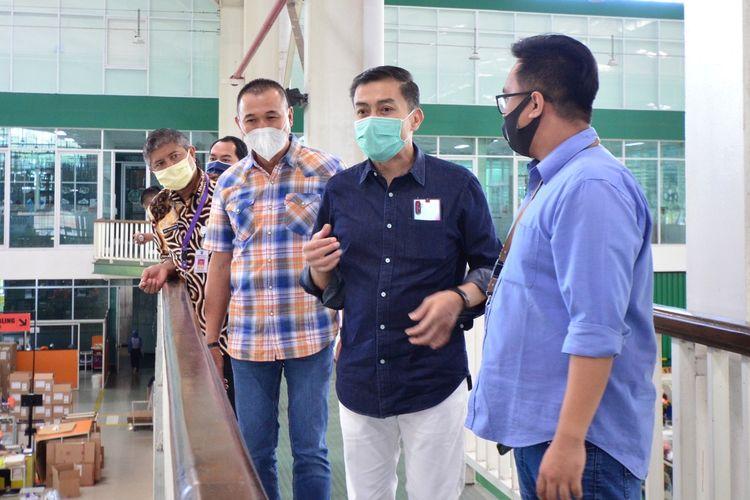 Wali Kota Salatiga Yuliyanto meninjau penerapan protokol kesehatan di pabrik PT. SCI