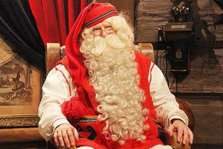 Santa Klaus di Santa Claus Office, Finlandia.