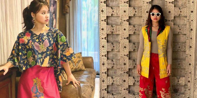 Zia (15), Murid SMA Kelas 10 Sekolah Cikal itu mampu mengkreasikan kain tenun menjadi fesyen yang menawan bagi kaum milenial.