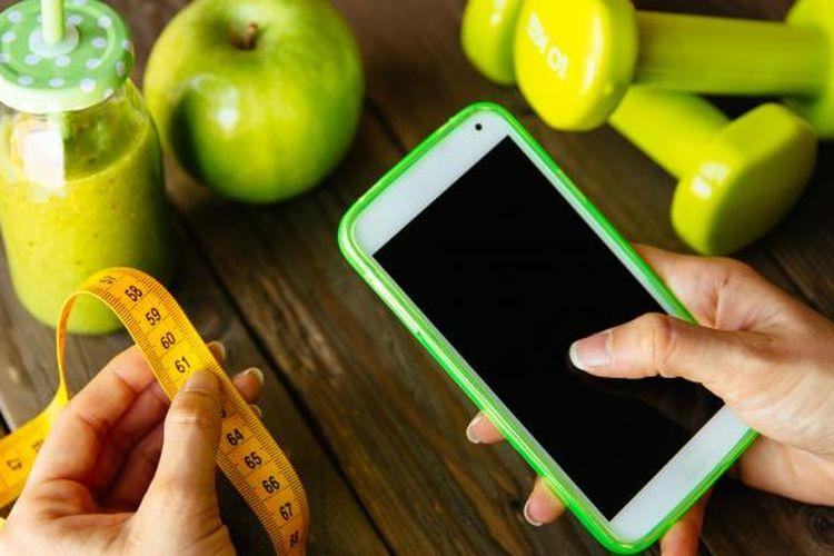 Gunakan aplikasi kesehatan untuk membantu Anda menurunkan dan menjaga berat tubuh ideal.