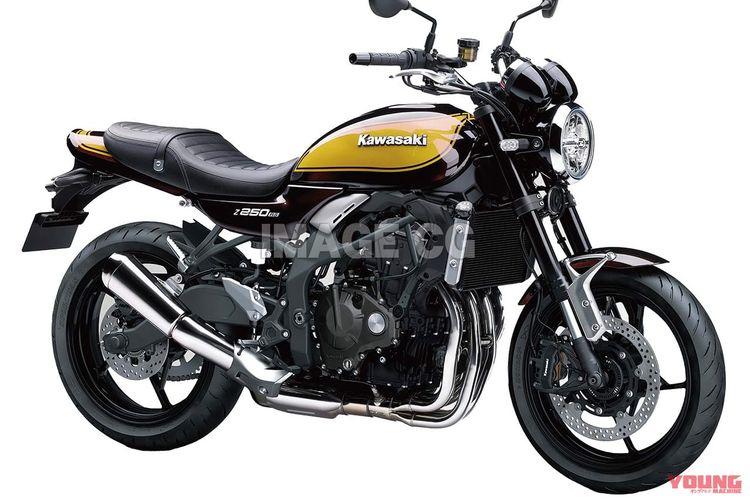 Desain ZX-25R versi naked bike