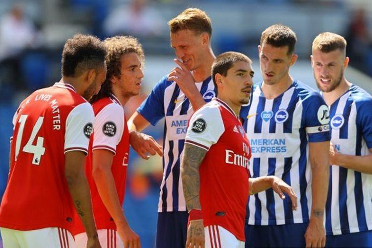 Laga Brighton vs Arsenal di Stadion American Express, Sabtu (20/6/2020).