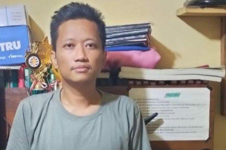 Tersangka Mardian Ade Saputra (33) warga Kelurahan Bangetayu Wetan, Kecamatan Genuk Kota Semarang diringkus kepolisian, Rabu (12/2/2020).