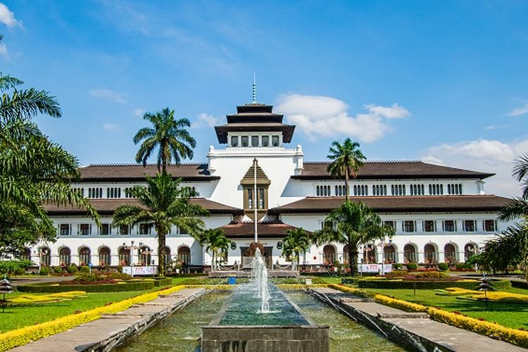 Ilustrasi Kota Bandung - Gedung Sate di Kota Bandung.