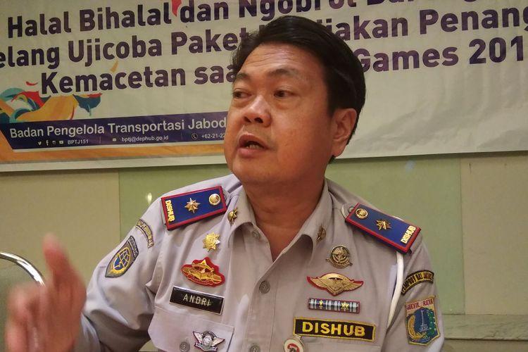 Kepala Dinas Perhubungan DKI Jakarta Andri Yansyah, akan blackliat sopir angkot yang kerja sama dengan copet, Selasa (26/6/2018)