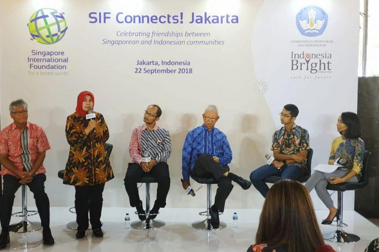 Seminar pendidikan dalam ajang SIF Connects Jakarta (22/9/2018)