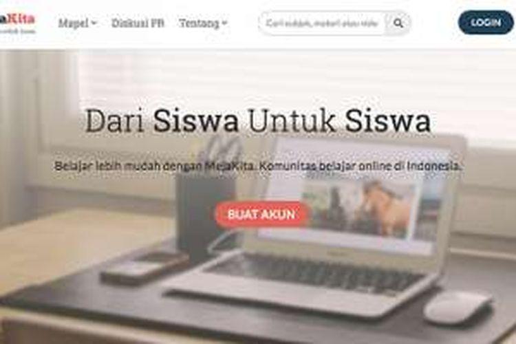 Laman beranda situs MejaKita.com