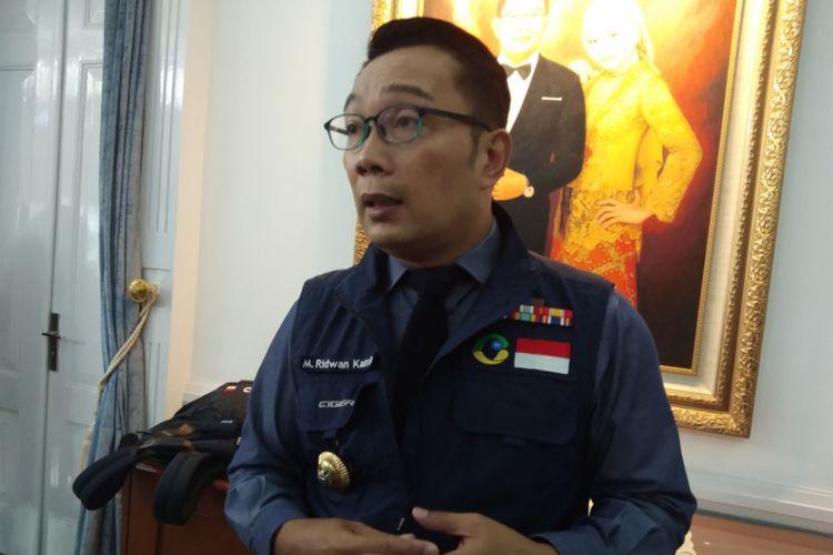 Gubernur Jawa Barat Ridwan Kamil saat ditemui di Gedung Pakuan, Jalan Otista, Kota Bandung, Kamis (16/7/2020).