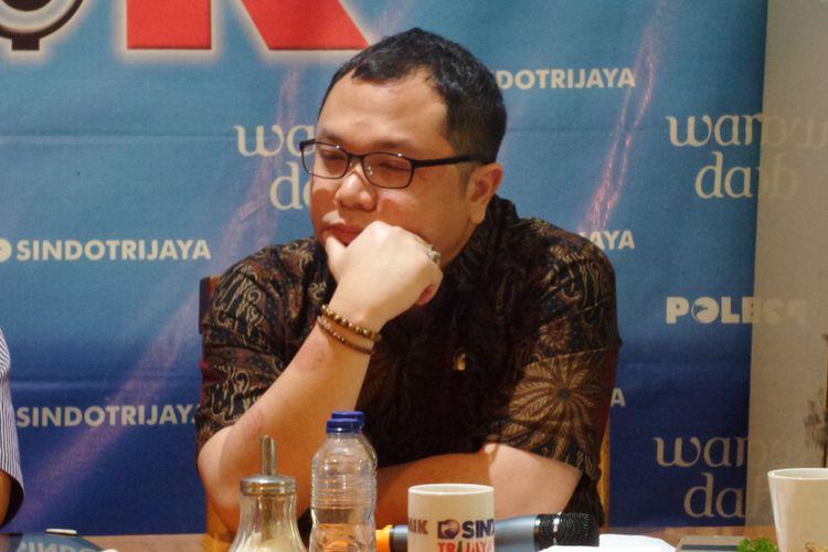 Senator DPD RI asal Kalimantan Timur, Aji Muhammad Mirza Wardana dalam diskusi Polemik di Jakarta, Sabtu (8/7/2017).