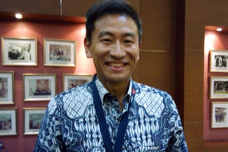 Sales & Marketing Director PT. Panasonic Gobel Indonesia (PGI) Kensuke Miyaji. Foto diambil pada Selasa (20/8/2019) di Jakarta