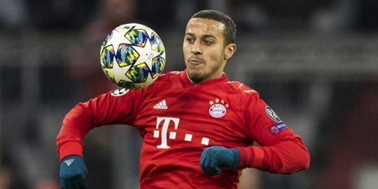 Gelandang asal Spanyol, Thiago Alcantara yang saat ini membela Bayern Muenchen.