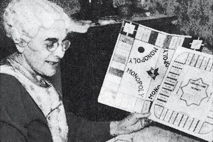Elizabeth Magie, penemu permainan papan Monopoli. (Wikipedia)