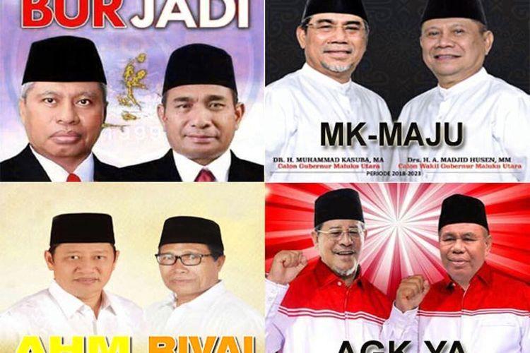 Empat paslon gubernur dan wakil gubernur yang telah mendaftarkan diri di KPU Maluku Utara