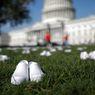 Kenang Rekan yang Gugur karena Covid-19, Serikat Perawat AS Taruh 164 Pasang Sepatu