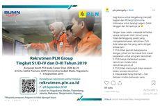 PLN Buka 9 Profesi hingga 20 September 2019, Apa Saja Syaratnya?