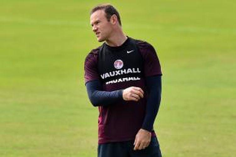 Penyerang tim nasional Inggris, Wayne Rooney.