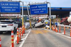 Honda Jazz Terbalik di GT Cibubur, Ngantuk Jangan Maksa Nyetir
