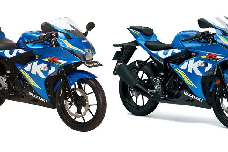 Suzuki GSX-R 150 dan GSX-R 125. Ada yang bisa membedakannya?