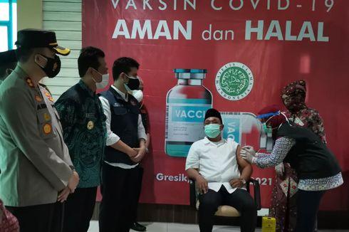Ketua DPRD Gresik Usai Disuntik Vaksin: Sempat Tegang, tapi Saya Yakin Vaksin Itu Aman
