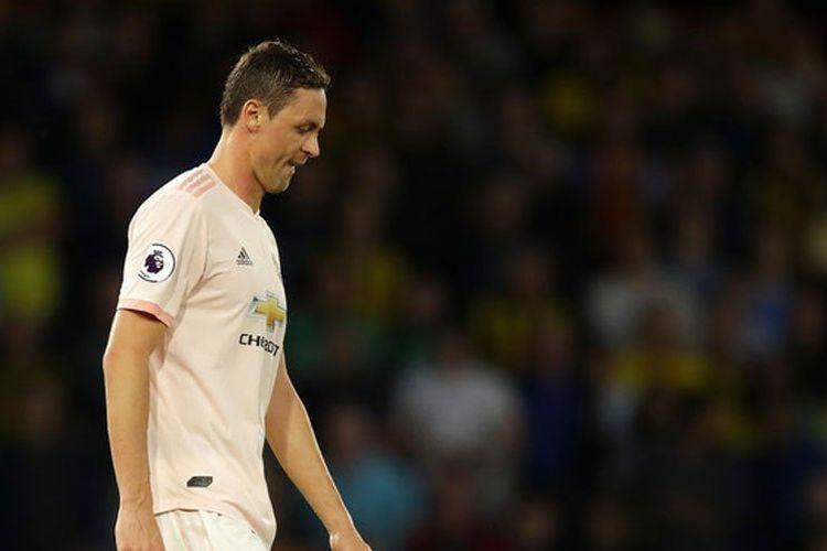 Nemanja Matic rela disalahkan atas kekalahan memalukan Manchester United dari Everton, Senin (22/4/2019)