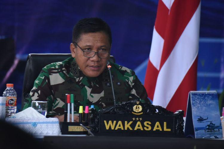 Wakil Kepala Staf Angkatan Laut (Wakasal) Laksamana Madya TNI Ahmadi Heri Purwono memimpin Rapat Penyelarasan Rencana Kerja dan Anggaran (RKA) Pemeliharaan dan Perbaikan Alutsista TNI AL Tahun 2022 di Mabesal, Cilangkap, Jakarta Timur, Kamis, (24/6/2021).