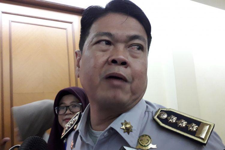 Kepala Dinas Perhubungan DKI Jakarta Andri Yansah di Polda Metro Jaya, Jakarta Selatan pada Jumat (2/2/2018).